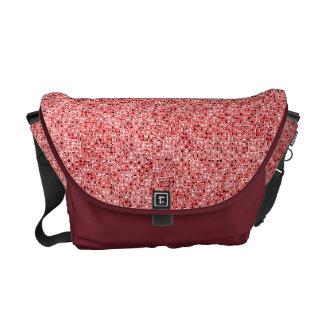 Red Sequin Effect Rickshaw Messenger Bag