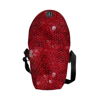 Red Sequin Image  Background Courier Bags