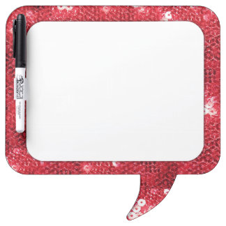 Red Sequin Image Background Dry-Erase Whiteboards