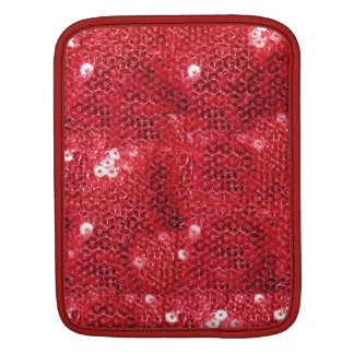Red Sequin Image  Background iPad Sleeves