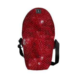 Red Sequin Image  Background Messenger Bag