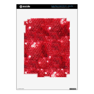 Red Sequin Image  Background Skins For iPad 3