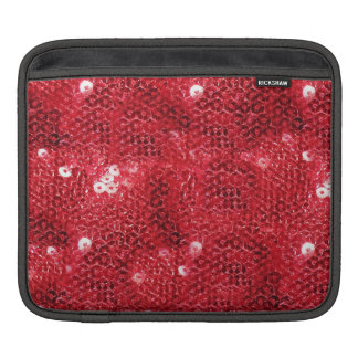 Red Sequin Image Background Sleeves For iPads
