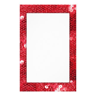Red Sequin Image Background Stationery