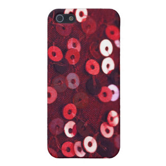 Red Sequin Phone Case Cover For iPhone 5