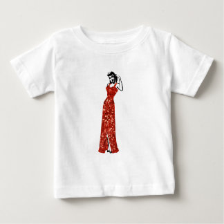 red sequin vintage pin up baby T-Shirt