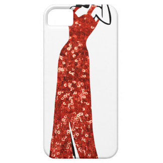 red sequin vintage pin up iPhone SE/5/5s case