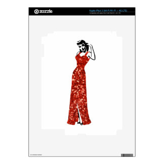 red sequin vintage pin up skins for iPad 3