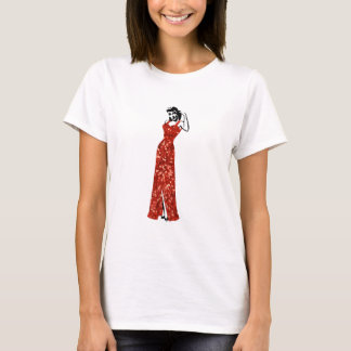 red sequin vintage pin up T-Shirt