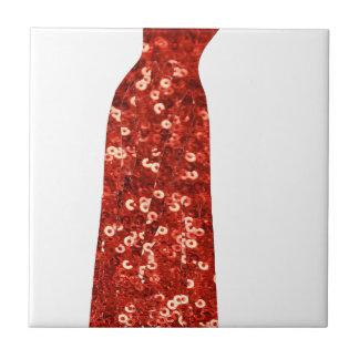 red sequin vintage pin up tile