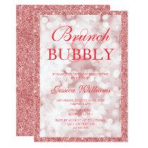 Red Sequins Brunch & Bubbly Bridal Shower Card