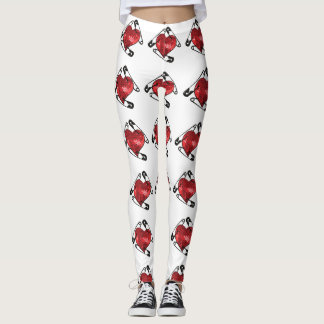 red sequins safety pin leggings