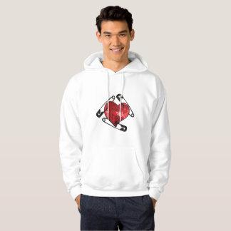 red sequins safety pin mens hoodie sweatshirt