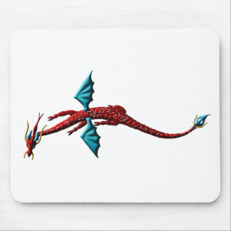 Red Serpent Dragon Mousepads
