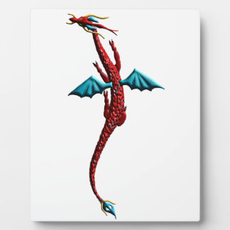 Red Serpent Dragon Photo Plaque