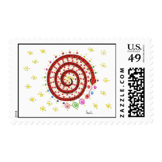 Red Serpent Stamp
