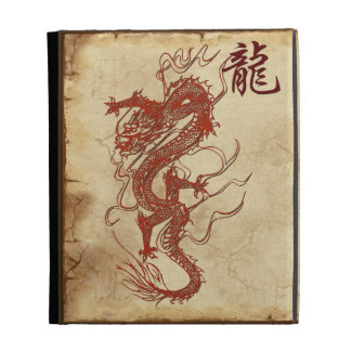 Red Serpent Year of the Dragon Asian Art & Kanji 2 iPad Cases