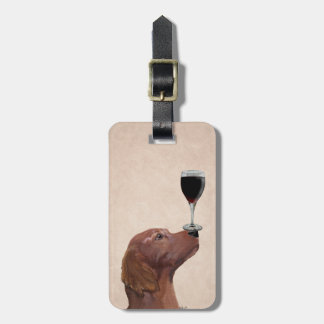 Red Setter Dog Au Vin 2 Bag Tag