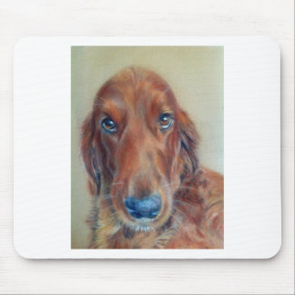 Red setter dog mouse pad