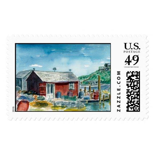 red shack at Menemsha Postage Stamp