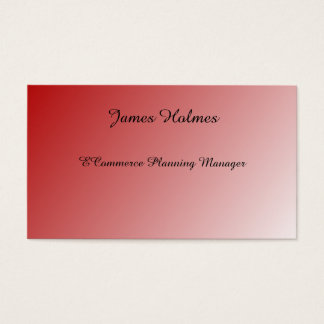 Red shade design black text business cards