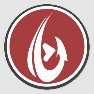 Red ShamHook Classic Round Sticker