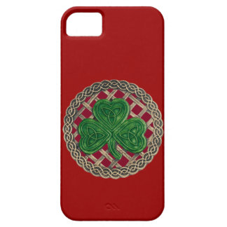 Red Shamrock And Celtic Knots iPhone 5 Case
