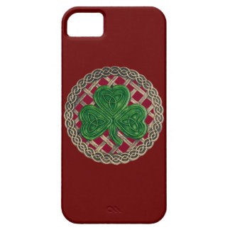 Red Shamrock And Celtic Knots iPhone 5G Case