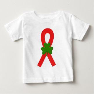 Red Shamrock Ribbon Tee Shirt