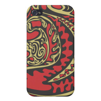 red shapes iphone case iPhone 4/4S covers