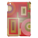 red shapes pop art cover for the iPad mini