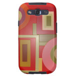 red shapes pop art galaxy s3 case