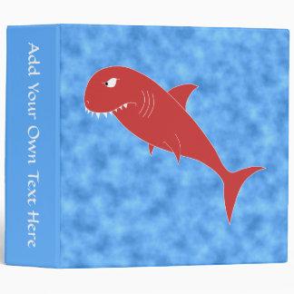 Red Shark. 3 Ring Binder