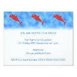 "Red Shark. 4.25"" X 5.5"" Invitation Card"