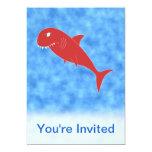 "Red Shark. 5"" X 7"" Invitation Card"
