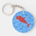 Red Shark. Acrylic Key Chains