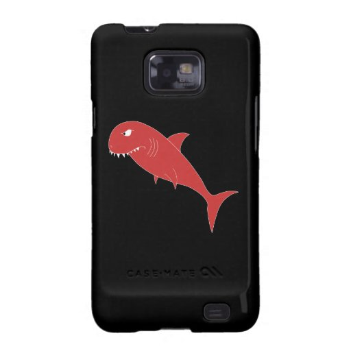 Red Shark on Black. Samsung Galaxy S2 Covers