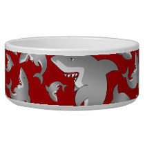Red shark pattern bowl