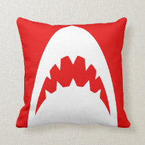 RED SHARK PILLOW SERIES. OTHER COLORS AVAILABLE.