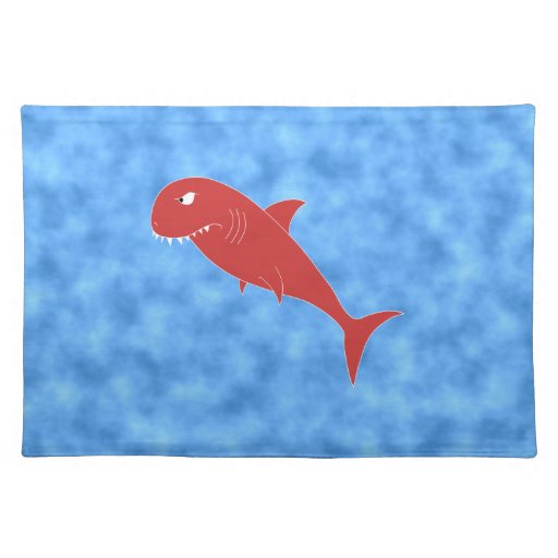 Red Shark. Placemat