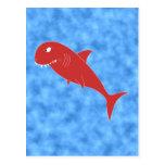 Red Shark. Postcard