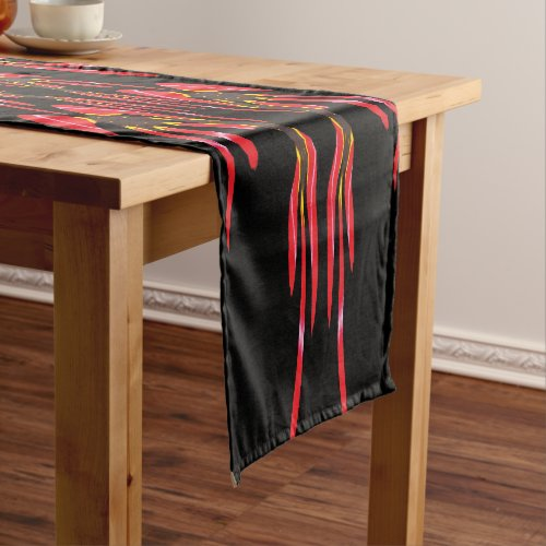 Red Sharon Tulip in a House of Mirrors Short Table Runner