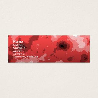 red sharp edge skinny business card. mini business card