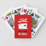 Red Shasta Camper RV Camping Cards Bicycle Playing Cards