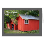 red sheds Thank You notecards Greeting Cards