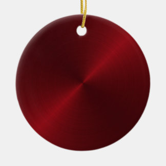 Red Sheen Christmas Personalized Ornament