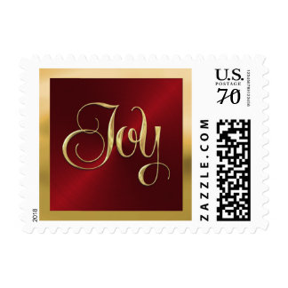 Red Sheen with Gold Joy Postage