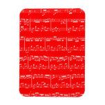Red Sheet Music Flexible Magnet