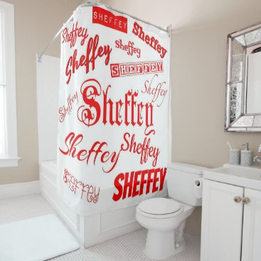 font themed Red Sheffey Fonts -9564 Shower Curtain