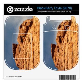 Red Shelf of Rock BlackBerry Decal